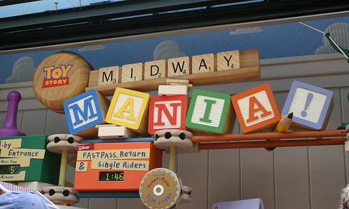 Toy Story Mania Ride at Disney World