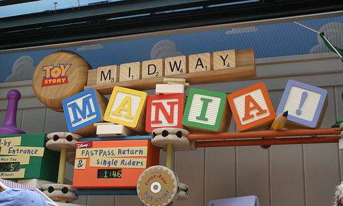 Toy Story Mania Ride at Disney World