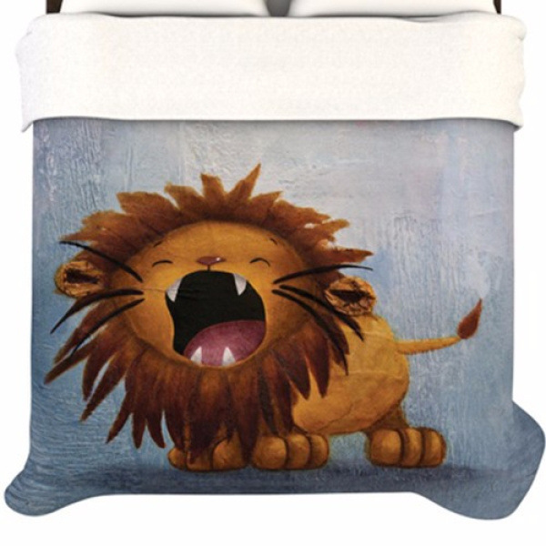 Dandy+Lion+Fleece+Duvet+Cover