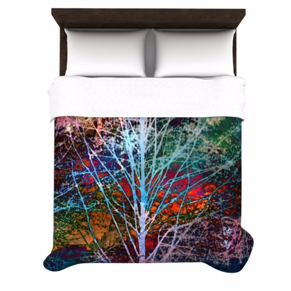 Trees+in+the+Night+Duvet+Cover