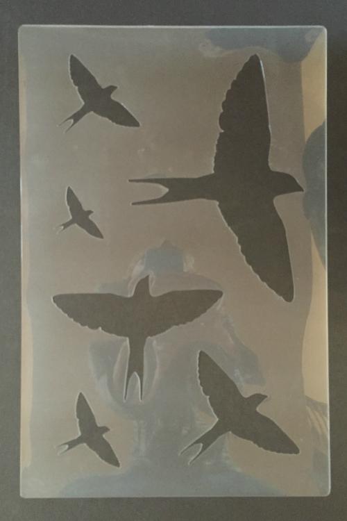 bird stencil actual