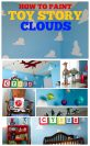 Large Cloud Stencils used in Toy Story Room
