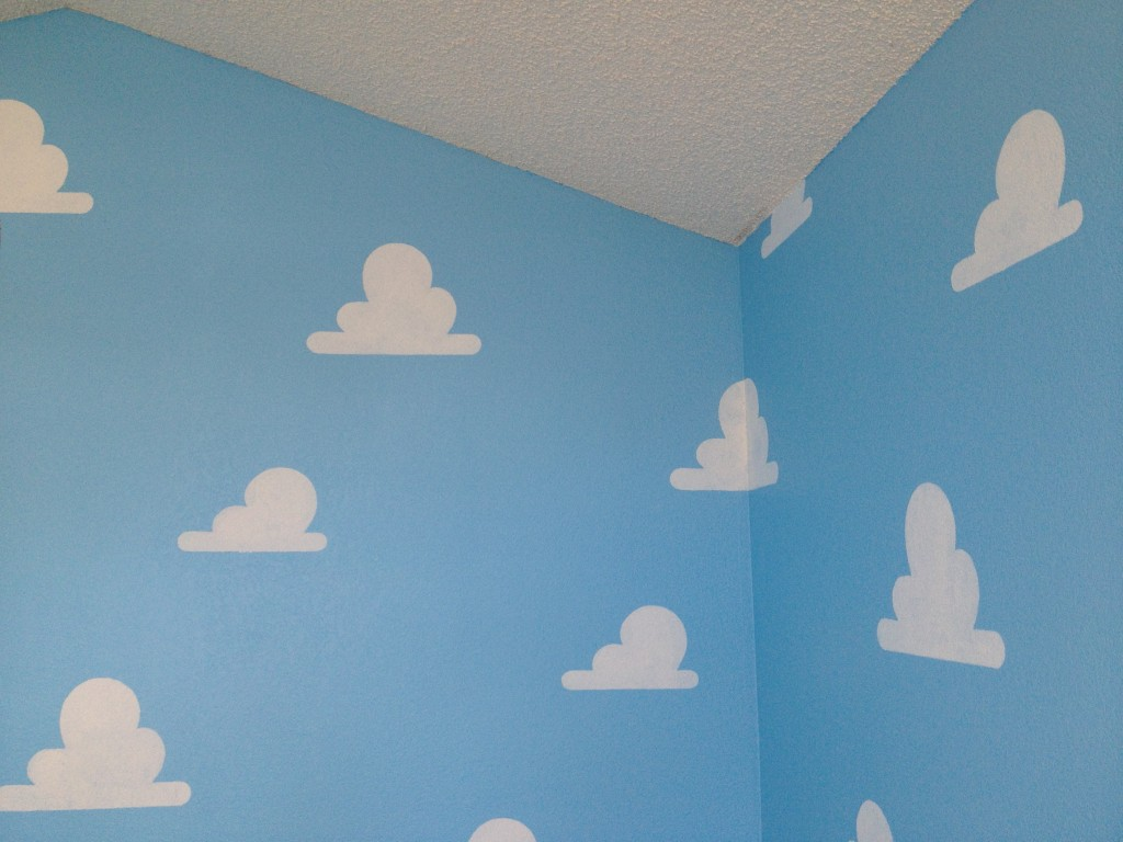 cloud stencil for toy story room set of 2 living
